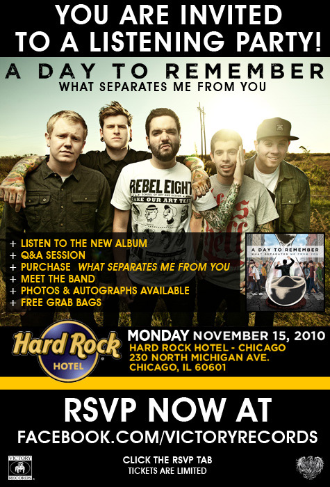 A day to remember listening party stitched sound a day to remember hailing from ocala florida will be releasing their fourth album on november 16th in celebration of this release they will hold a m4hsunfo