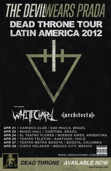 Dead Throne tour goes to Latin America