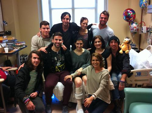 Mayday parade and all time low meet fan in hospital stitched sound mayday parade all time low and cassadee pope recently stopped by and visited a fan who was injured in the boston bombings m4hsunfo