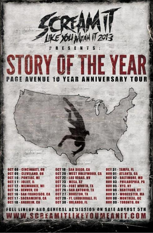 Scream It Like You Mean It Tour Support Announced