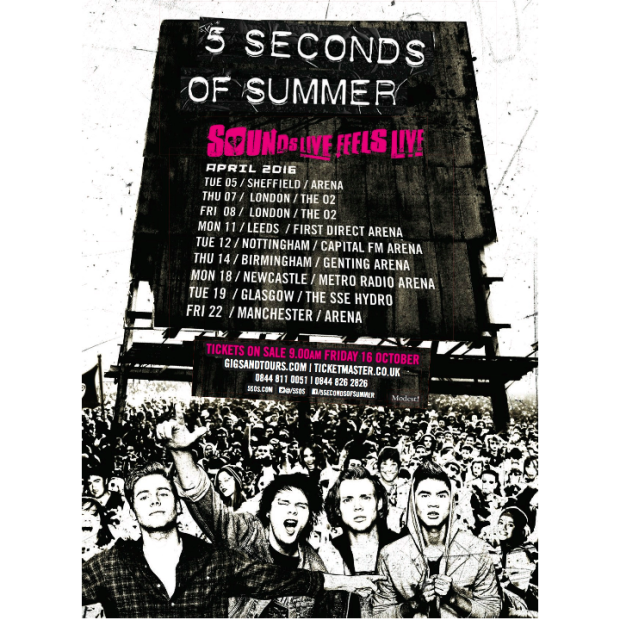 5 seconds of summer tour dates in Perth