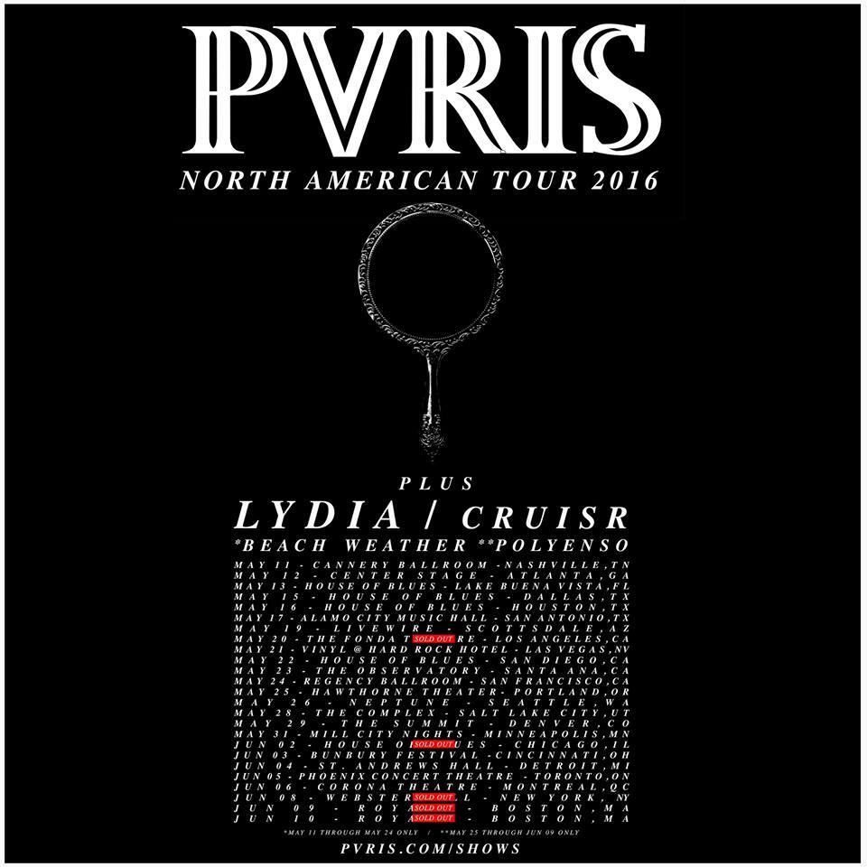 PVRIS announce US tour support