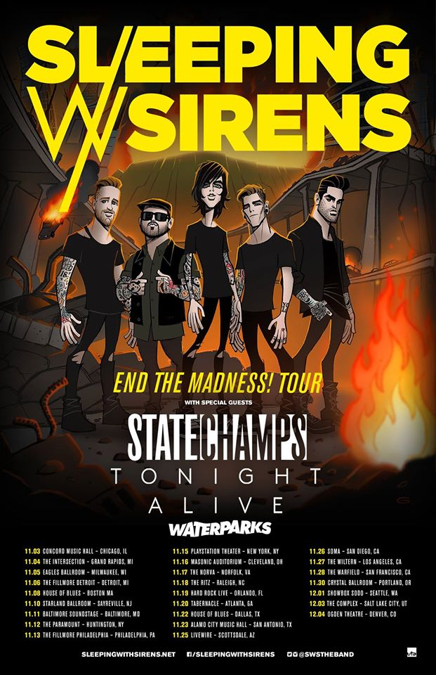Sleeping With Sirens, State Champs announce fall tour