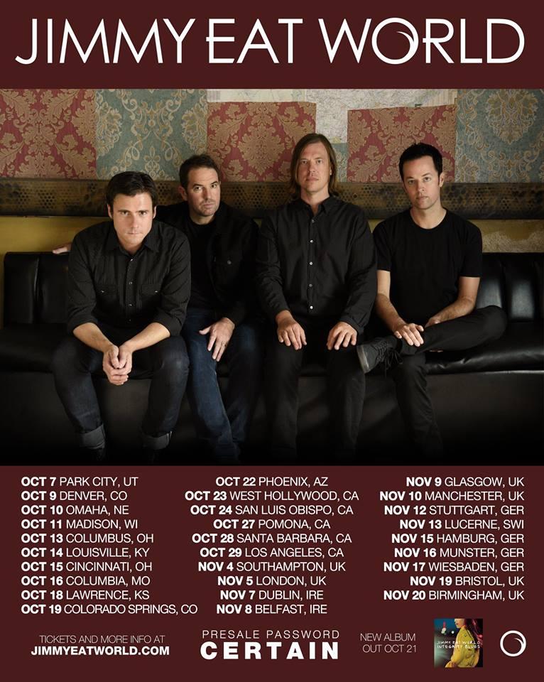 Jimmy Eat World announce tour