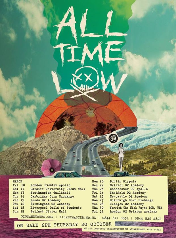 Image result for all time low 2017 tour uk