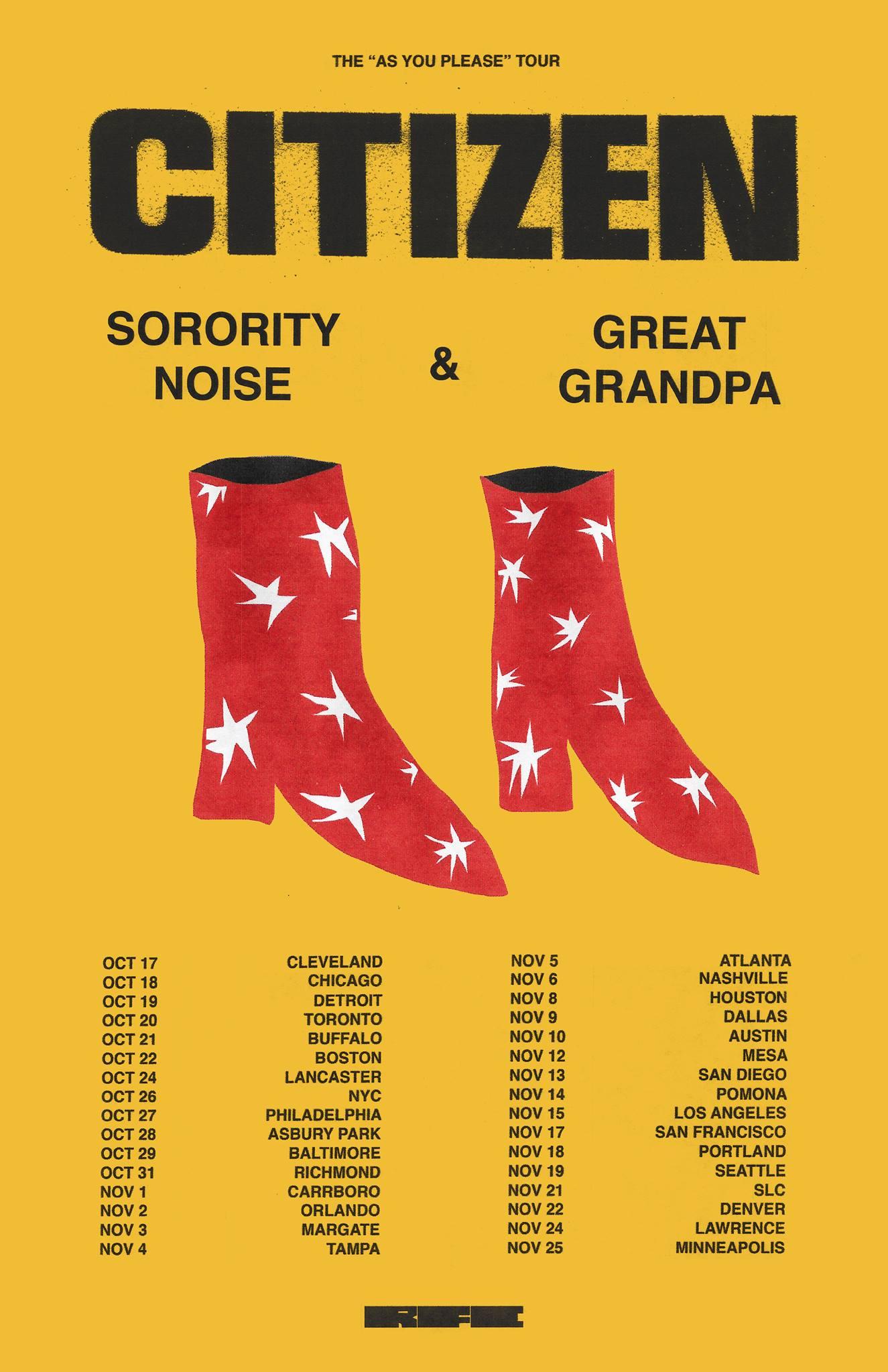 Sorority Noise Citizen Tour